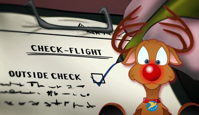 Santa's Check Flight